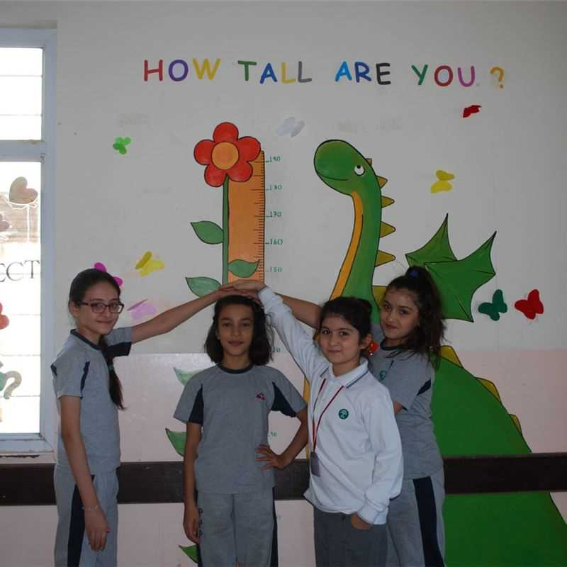 Suleimaniah Students Learn about Height