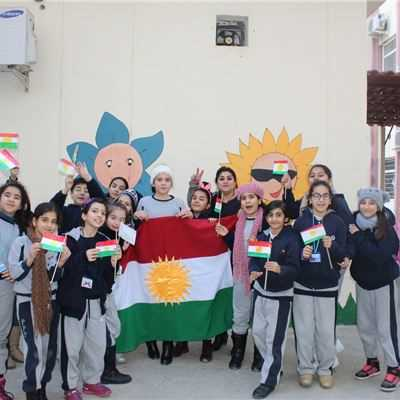 Students at Suleimaniah International School Celebrate Flag Day