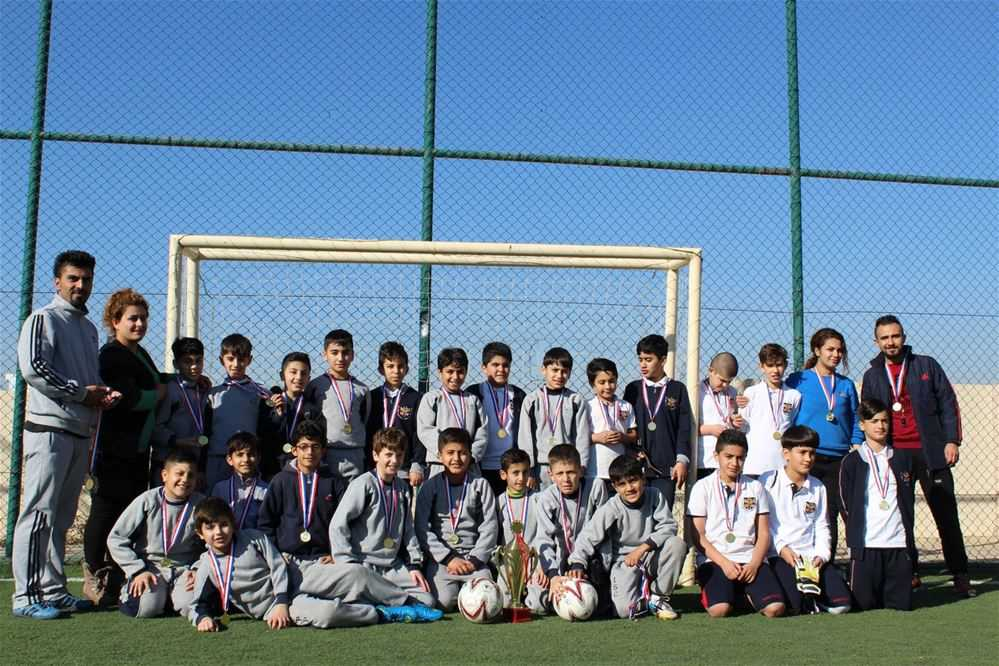 Suleimaniah International School Students Compete in a Friendly Football Match