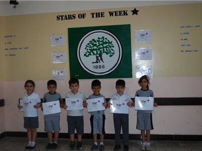 Young Students at Suleimaniah Earn Star of the Week Certificates