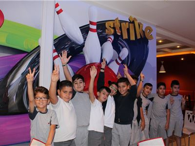 Grade 5 Students at Suleimaniah Go Bowling