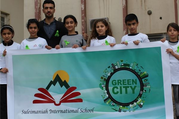 Suleimaniah Students Participate in My City Clean and Green Project